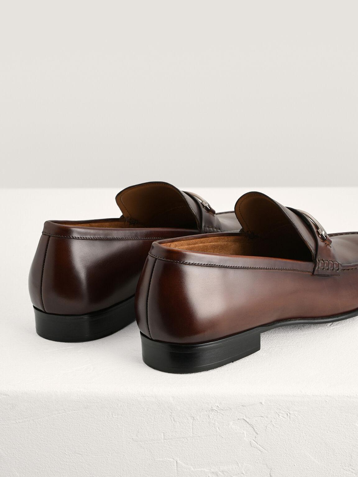 Bit Leather Loafers, Light Brown, hi-res