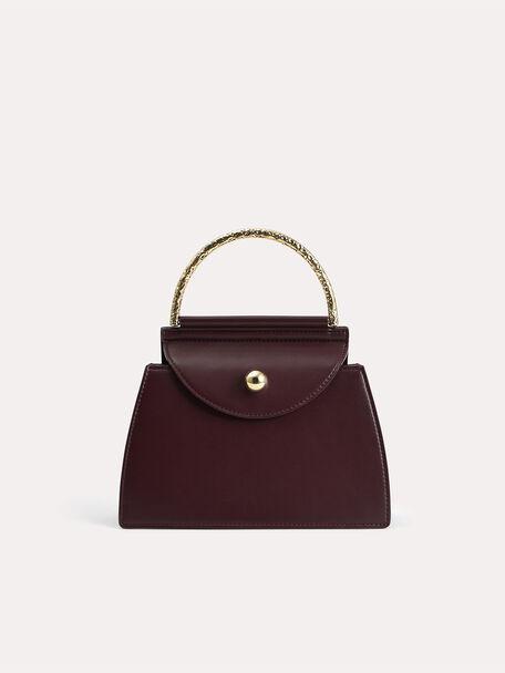 Mini Top Handle Bag, Dark Brown, hi-res