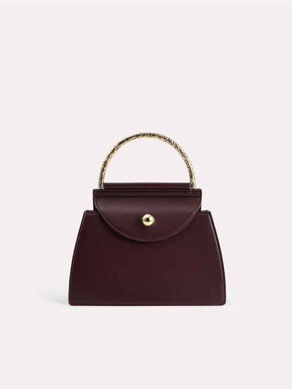 Mini Top Handle Bag, Dark Brown, hi-res