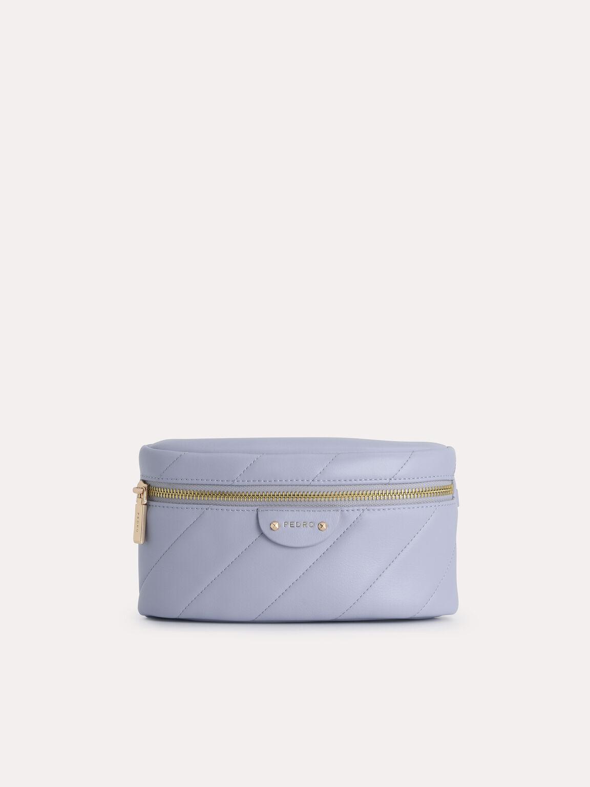 Quilted Shoulder Bag, Lilac, hi-res