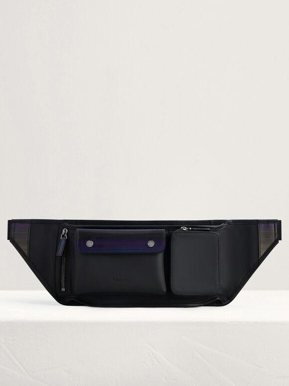 Casual Crossbody Bag, Black, hi-res