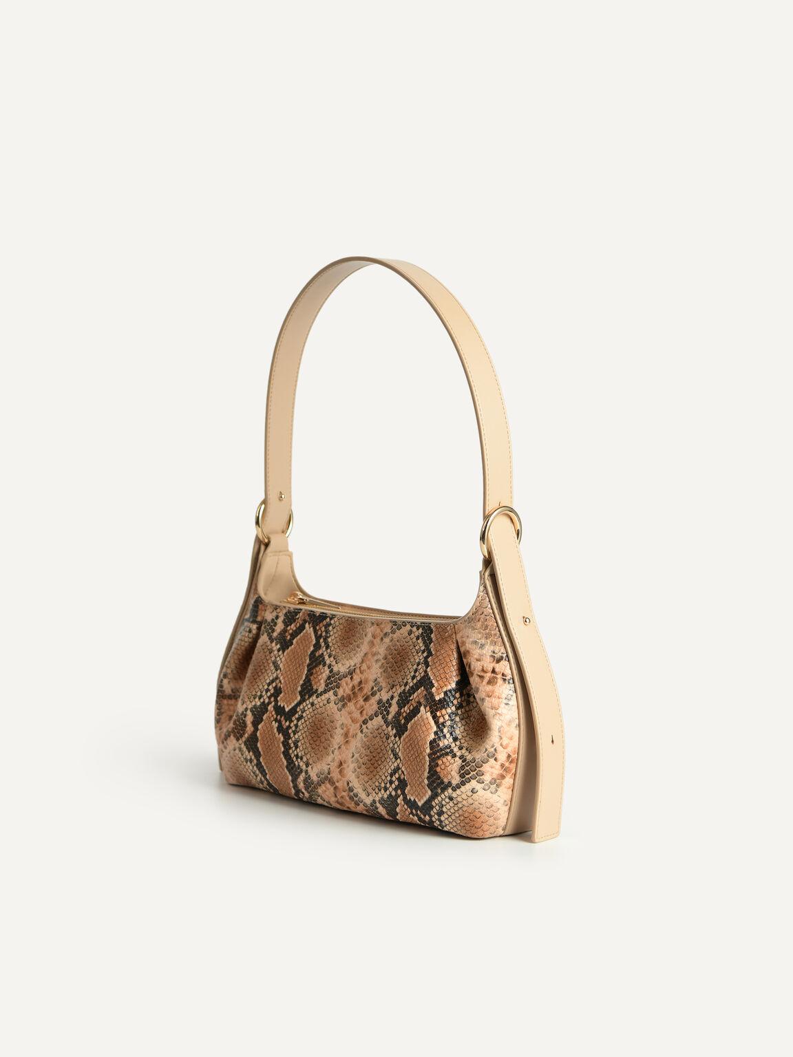 Snake-Effect Hobo Top Handle Bag, Multi, hi-res