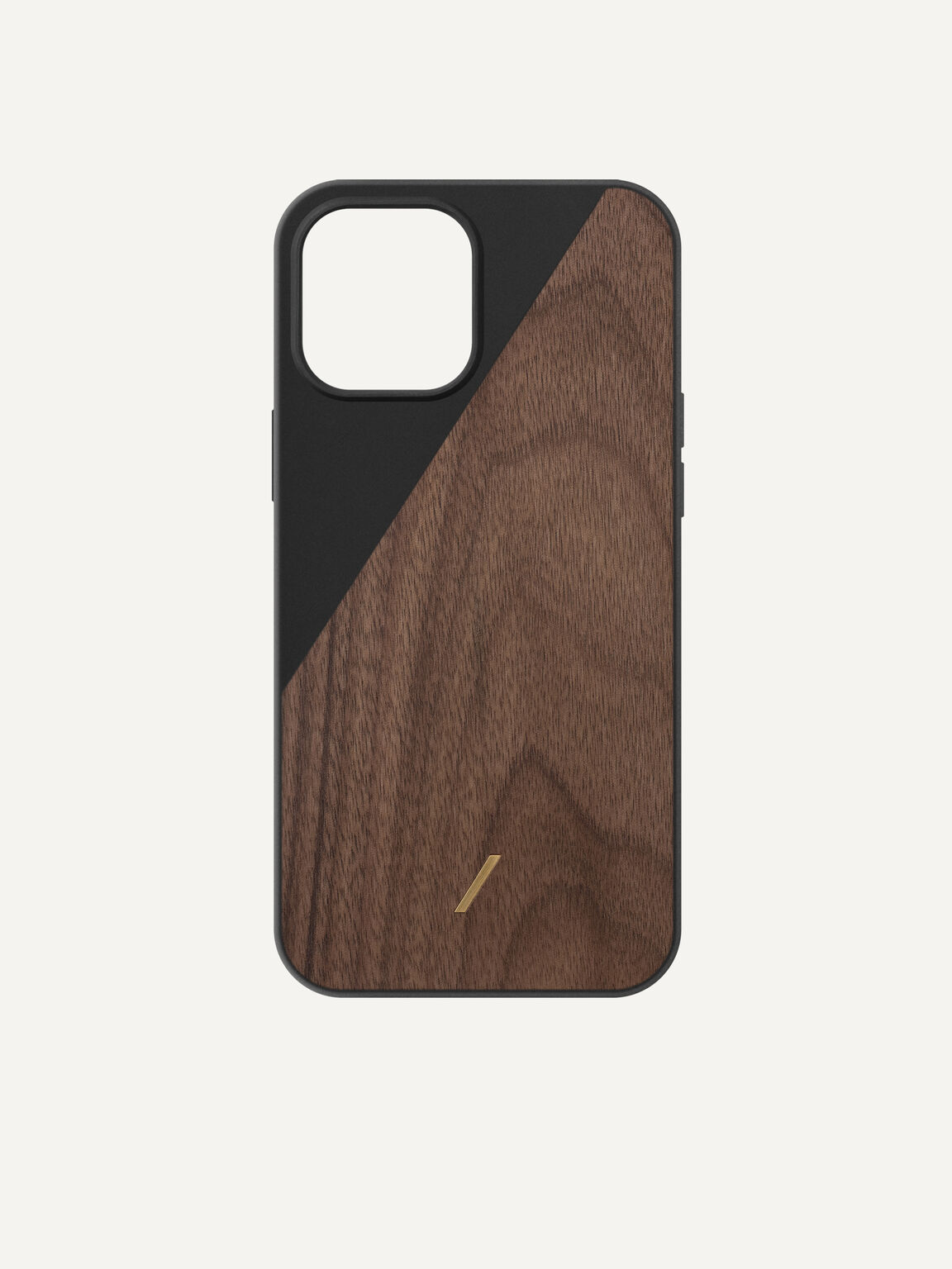 Genuine Wood iPhone 12 Max Pro Case, Black, hi-res