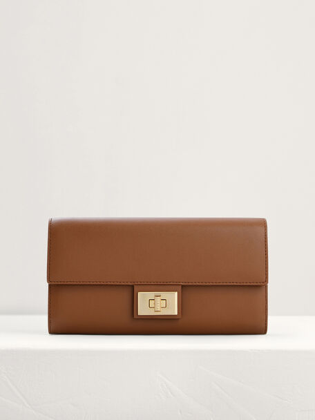 Leather Wallet On Chain, Cognac, hi-res