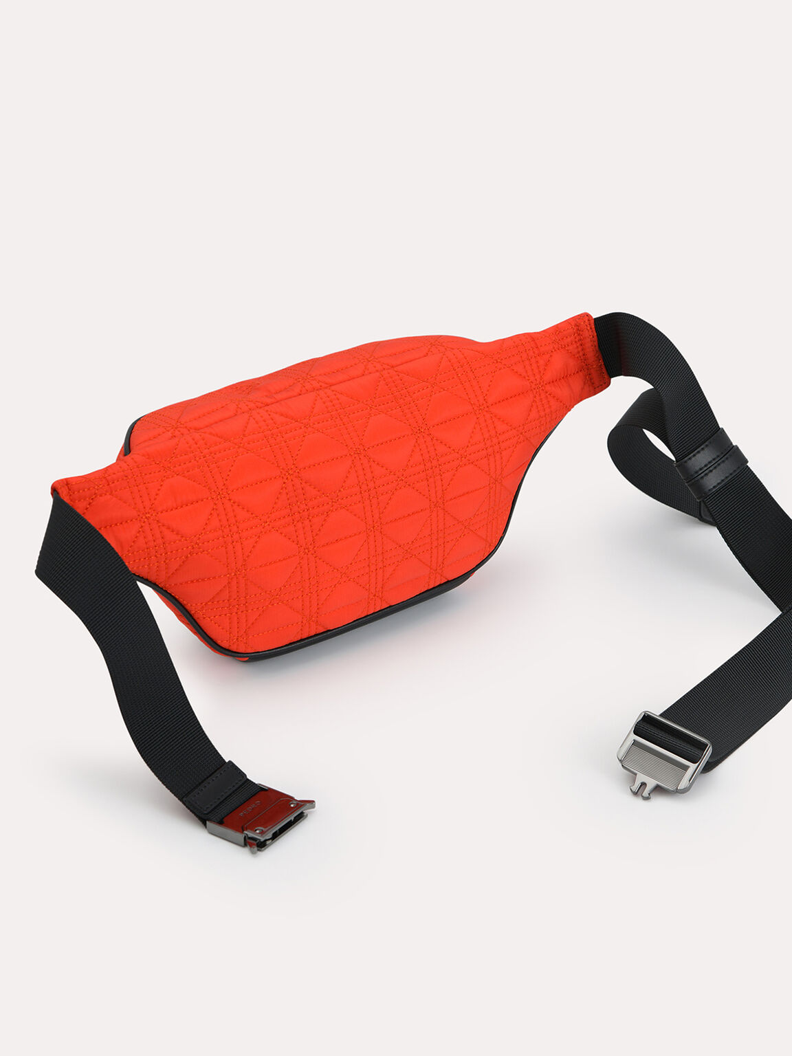 Quilted Sling Pouch, Orange, hi-res