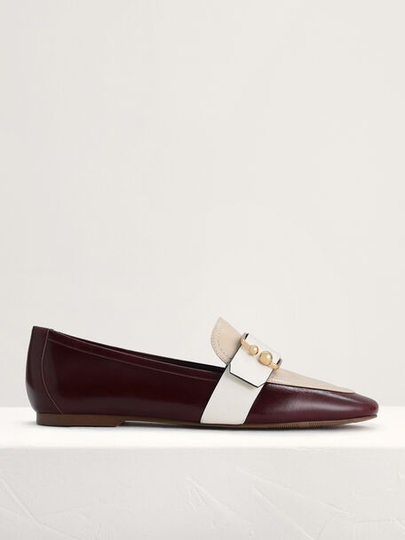 Buckle Leather Loafers, Multi, hi-res