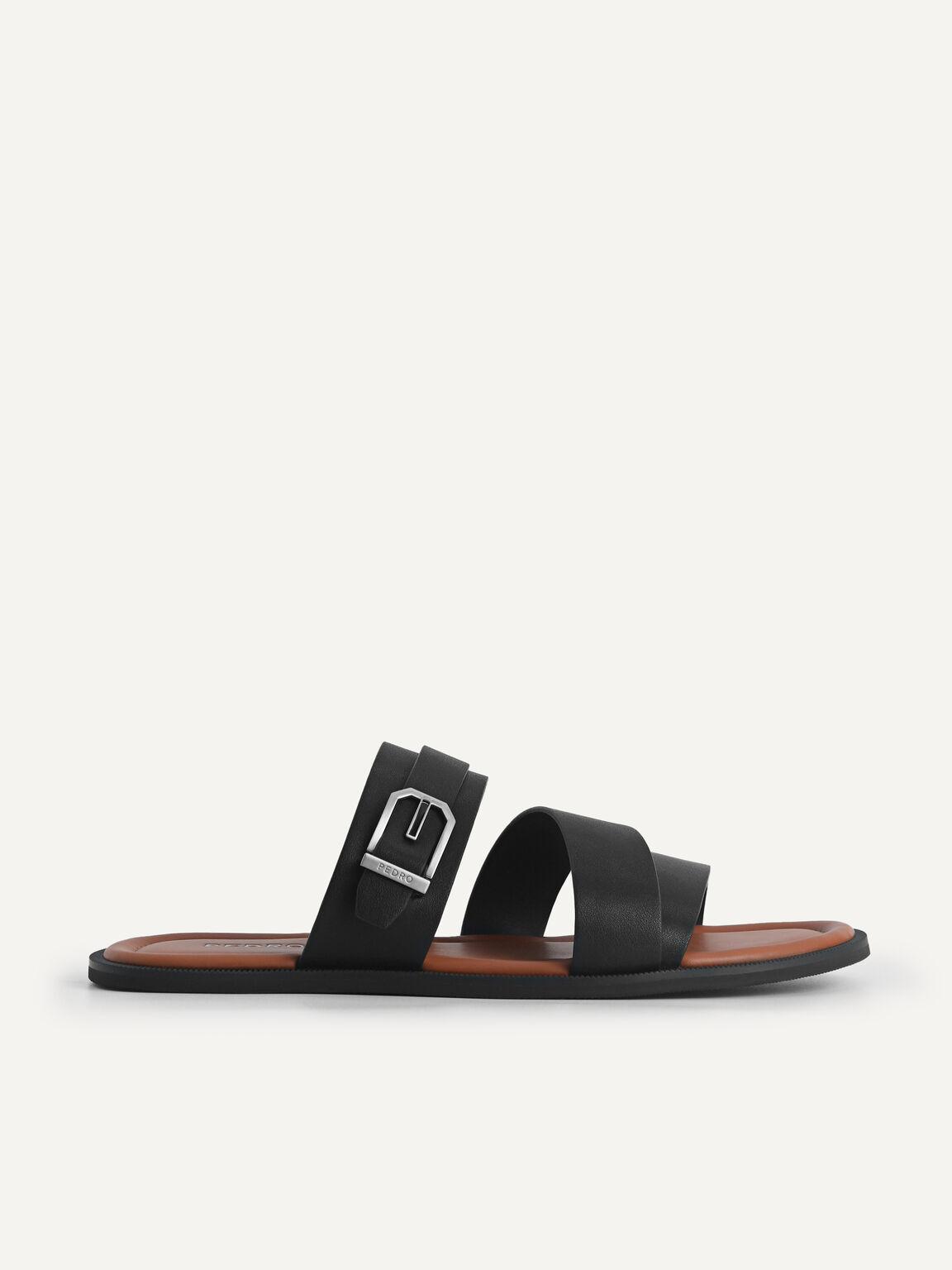 綁帶涼鞋, 黑色, hi-res