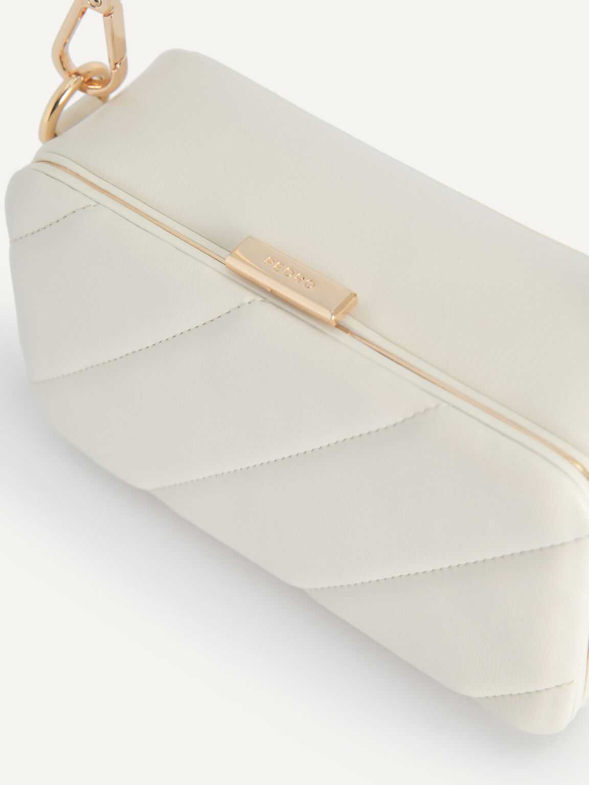 Quilted Boxy Shoulder Bag, Chalk, hi-res