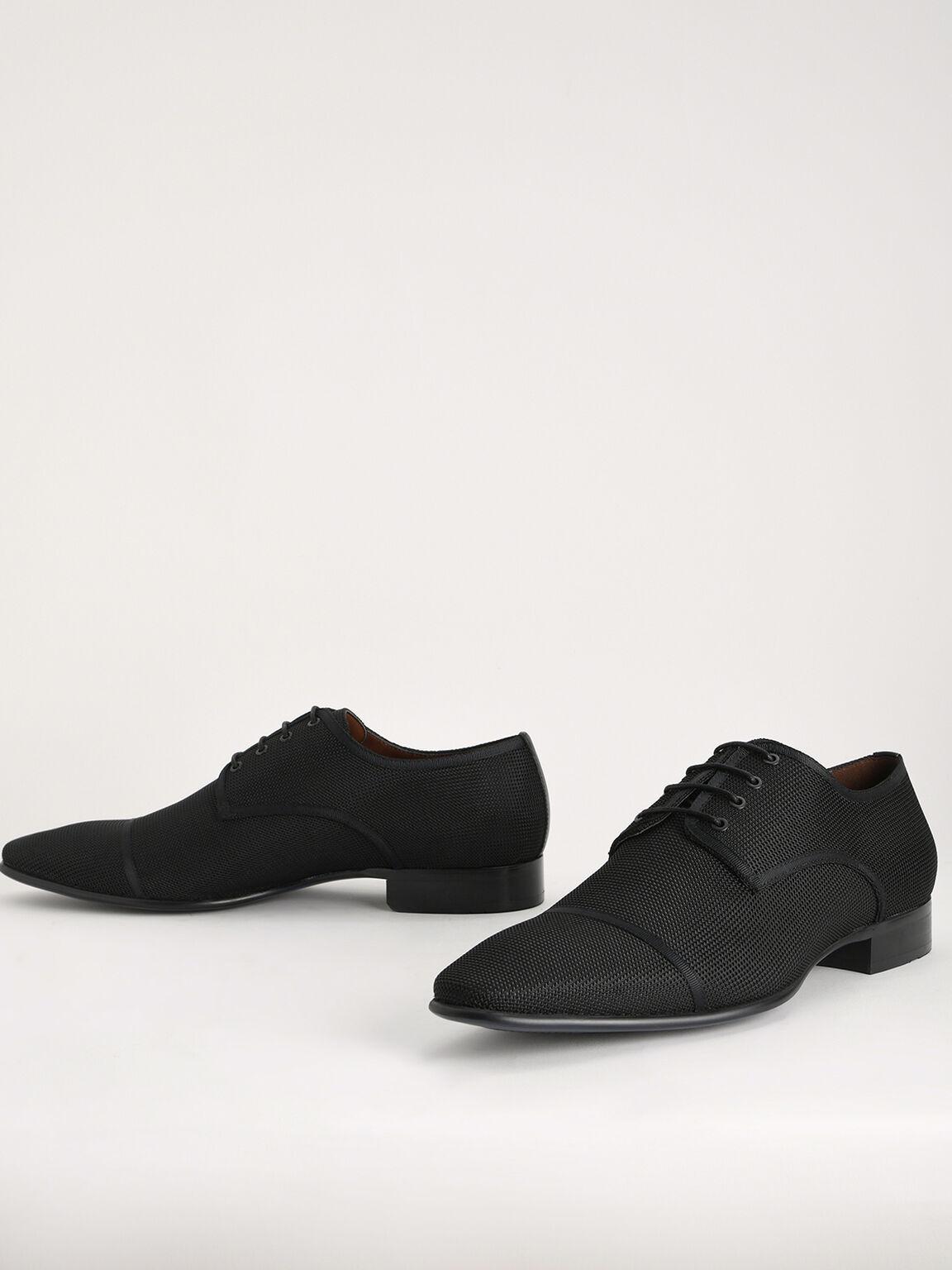 Mesh Derby Shoes, Black, hi-res