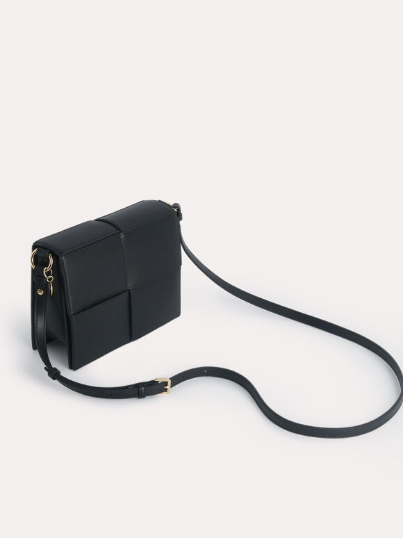 rePEDRO Mini Boxy Shoulder Bag, Black, hi-res