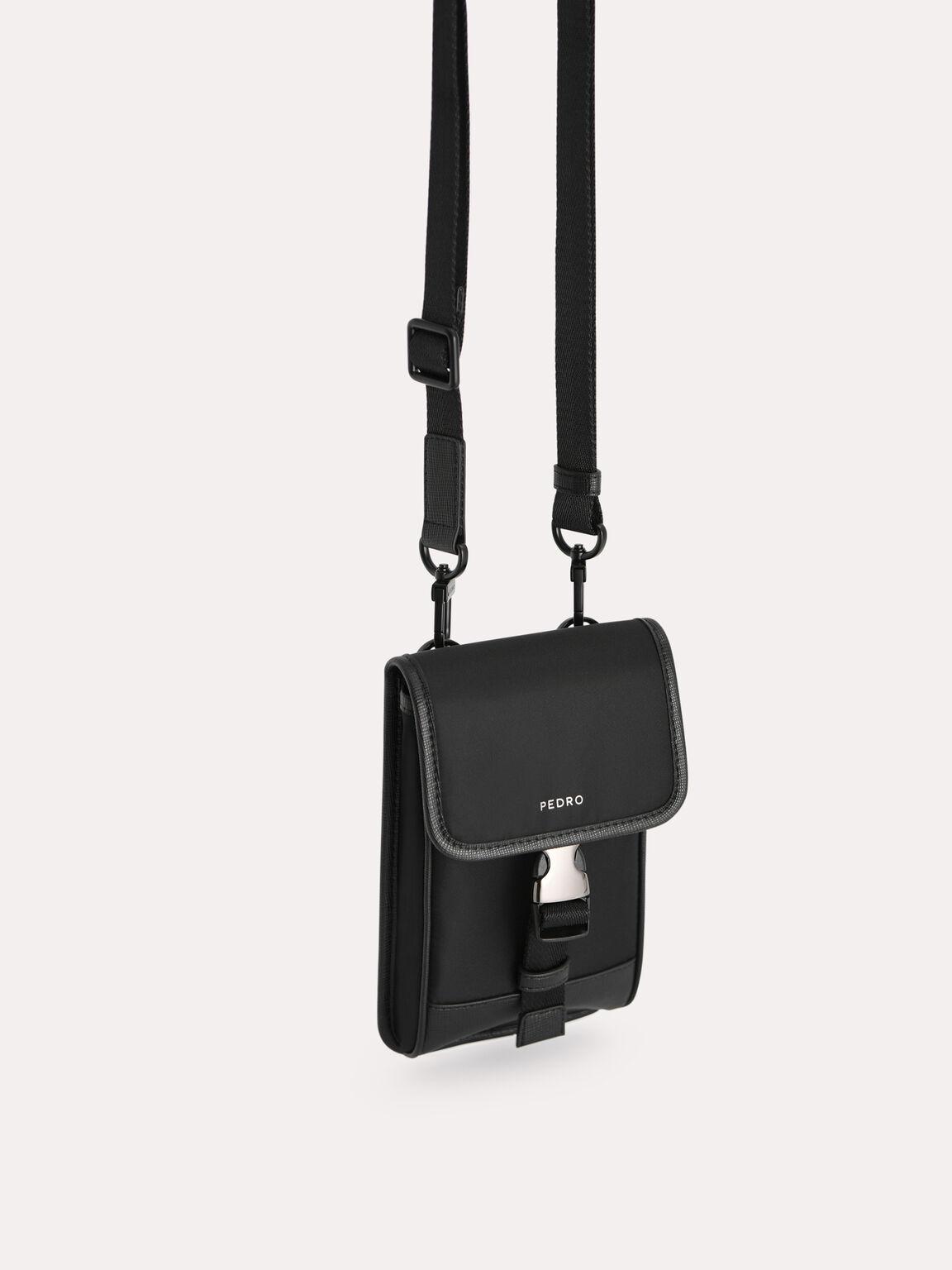 Nylon Phone Pouch, Black, hi-res
