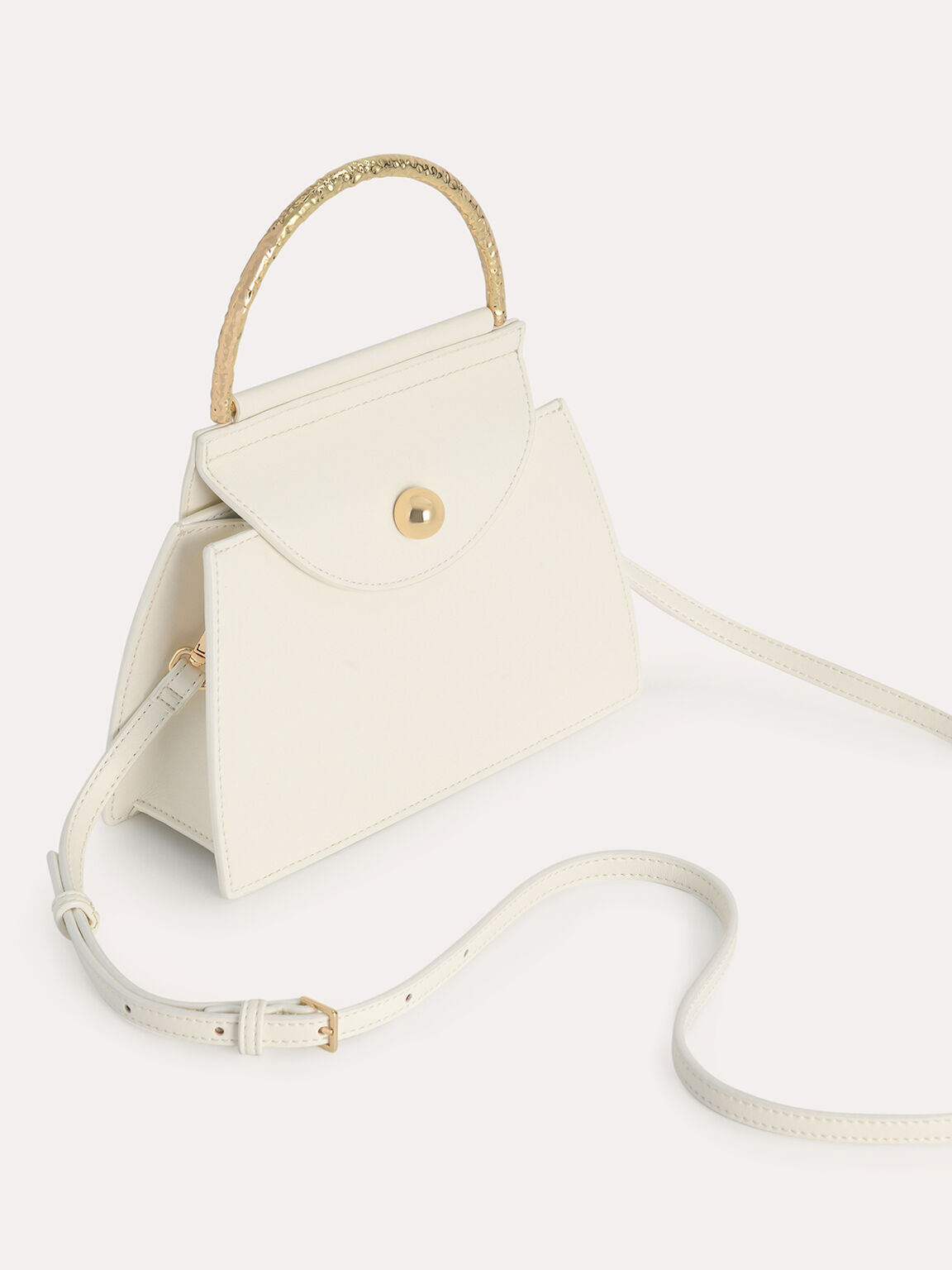 Mini Top Handle Bag, Chalk, hi-res