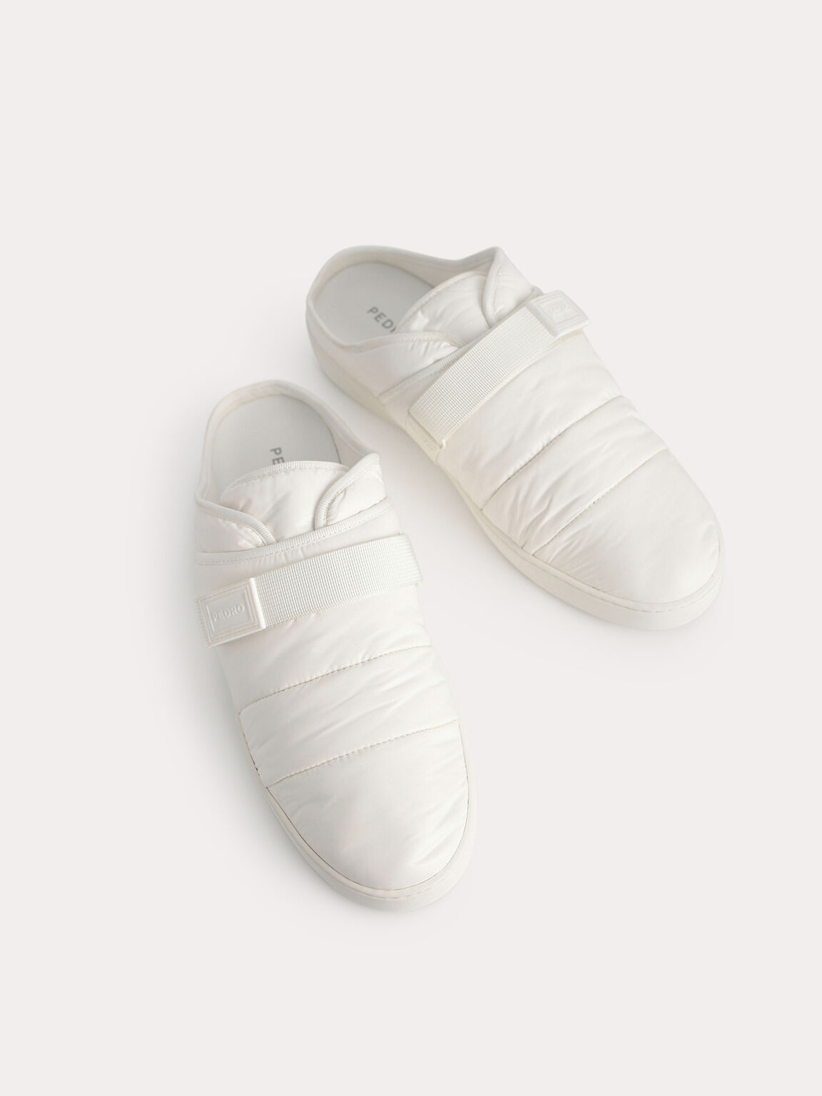 Padded Slip On Sneakers, White, hi-res
