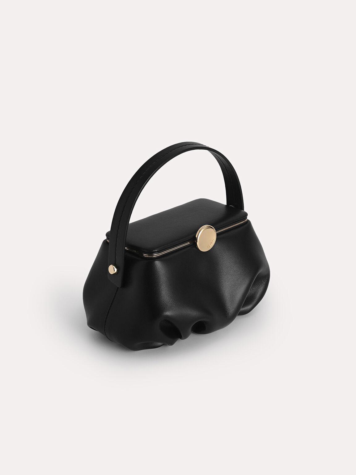 Pillow Top Handle Bag, Black, hi-res