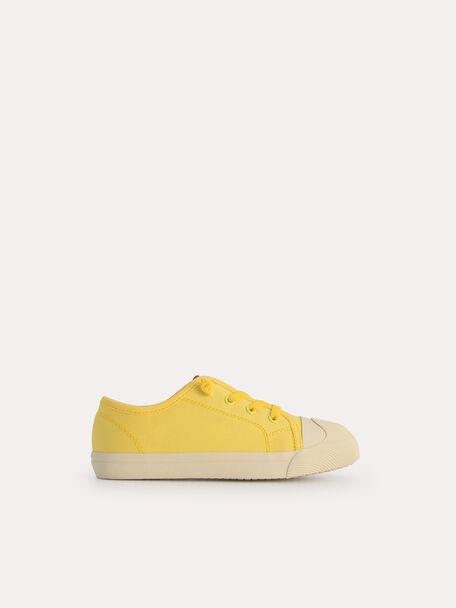 Casual Sneakers, Light Yellow, hi-res