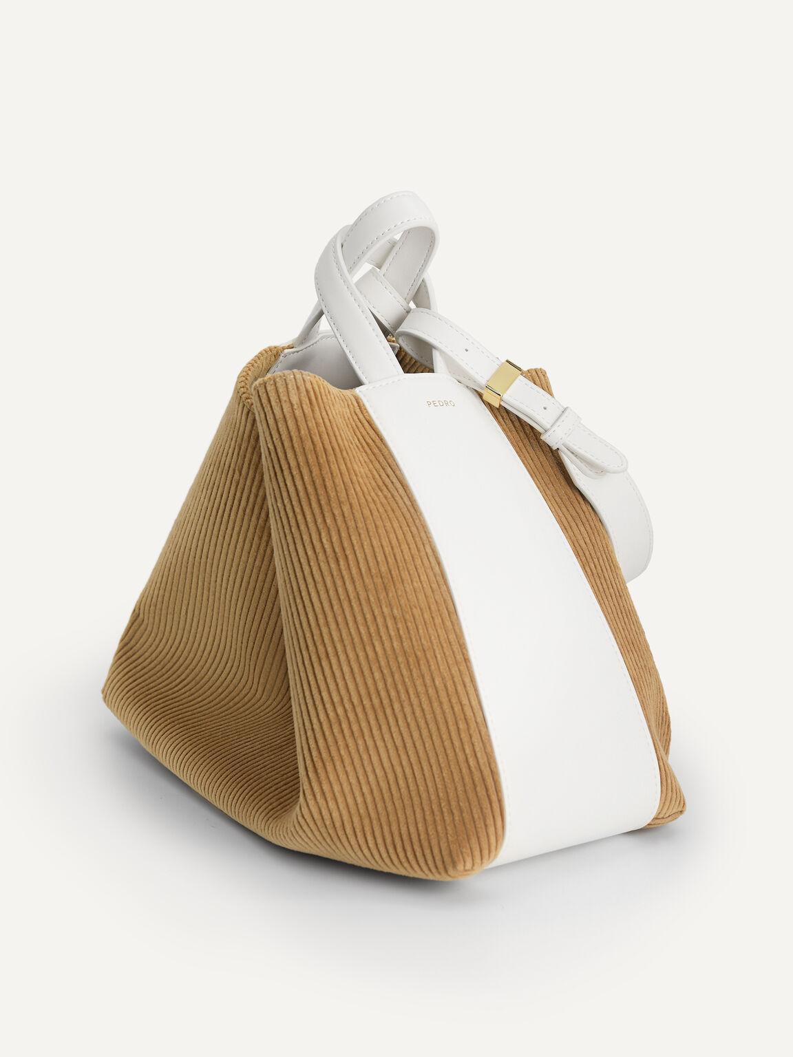 Corduroy Hobo Bag, Sand, hi-res