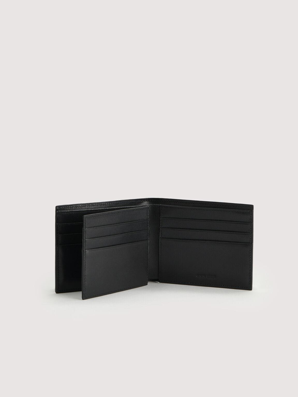 雙折疊皮革錢包, 海军蓝色, hi-res
