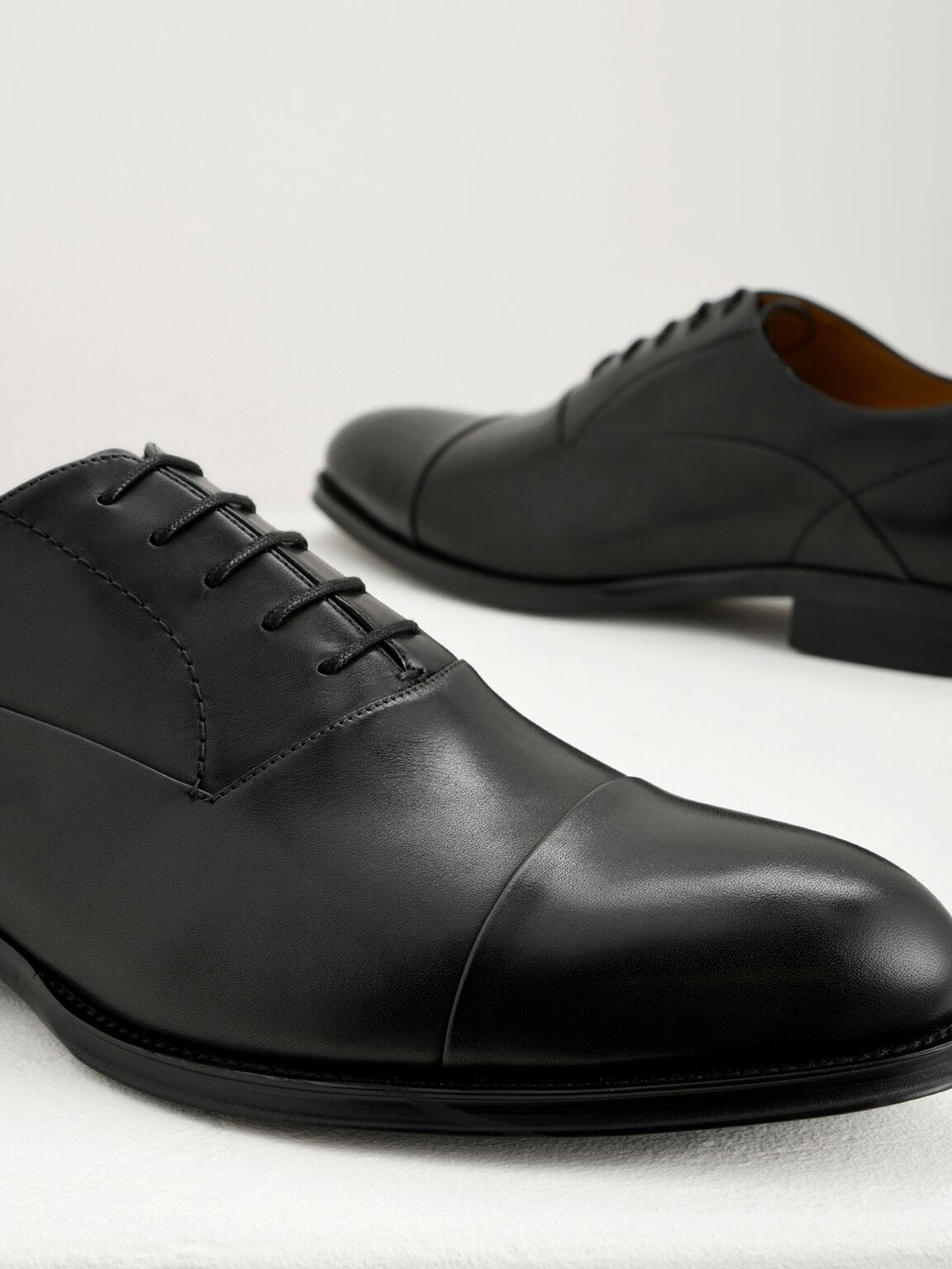 Leather Oxfords, Black, hi-res