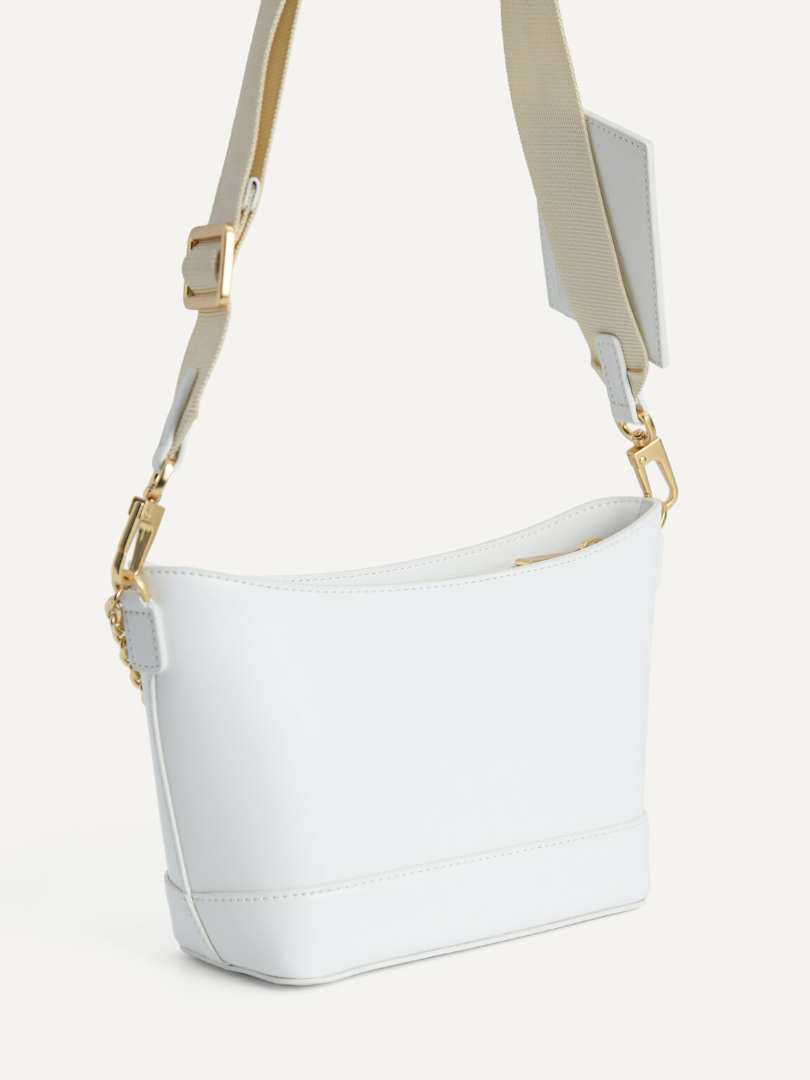 Leather Shoulder Bag, Chalk, hi-res