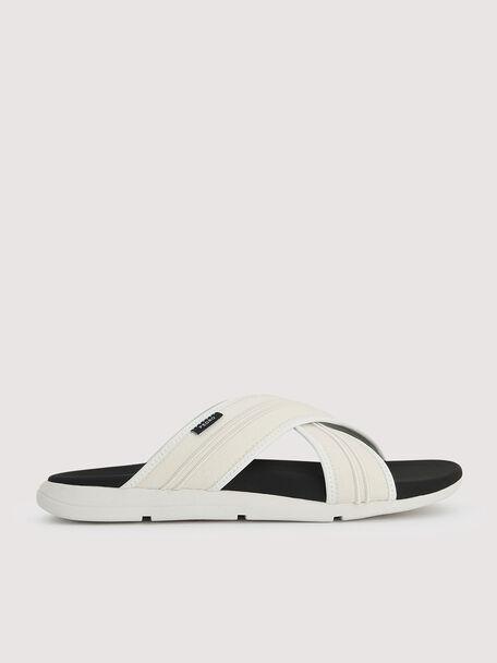 Sustainable Criss-Cross Sandals, Chalk, hi-res