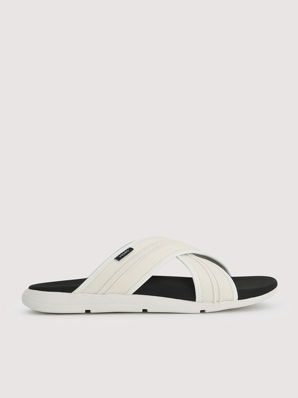 Sustainable Criss-Cross Sandals, Chalk, hi-res