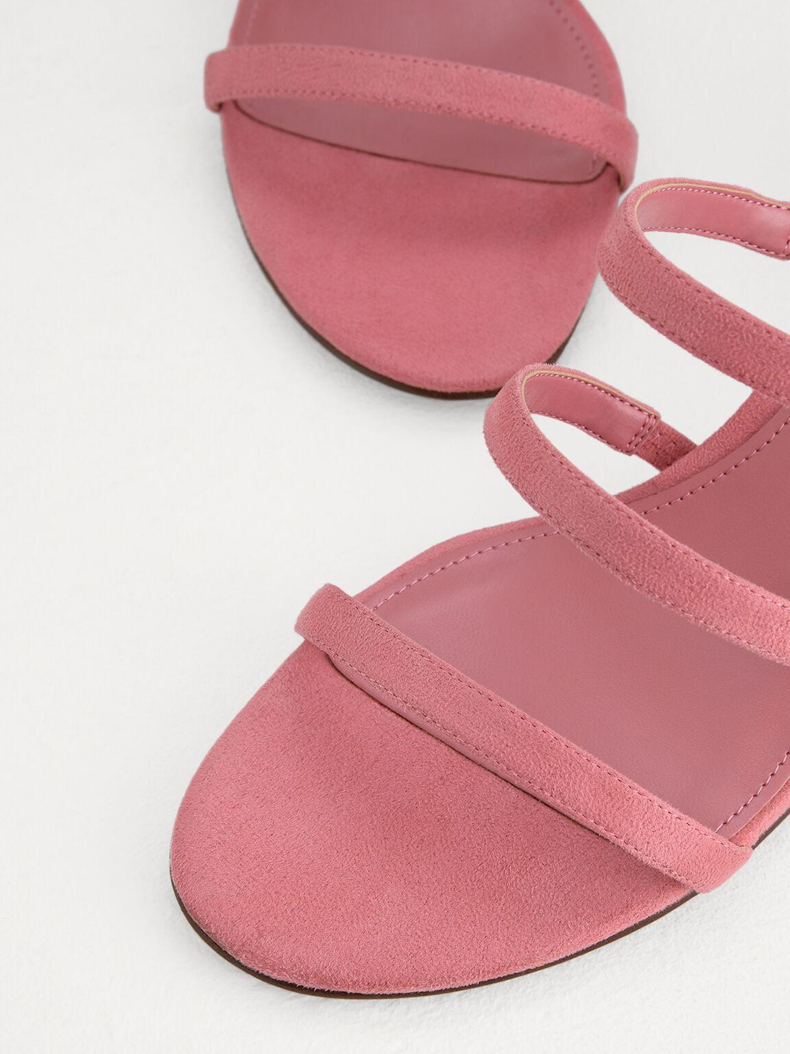 Strappy Heeled Sandals, Light Pink, hi-res