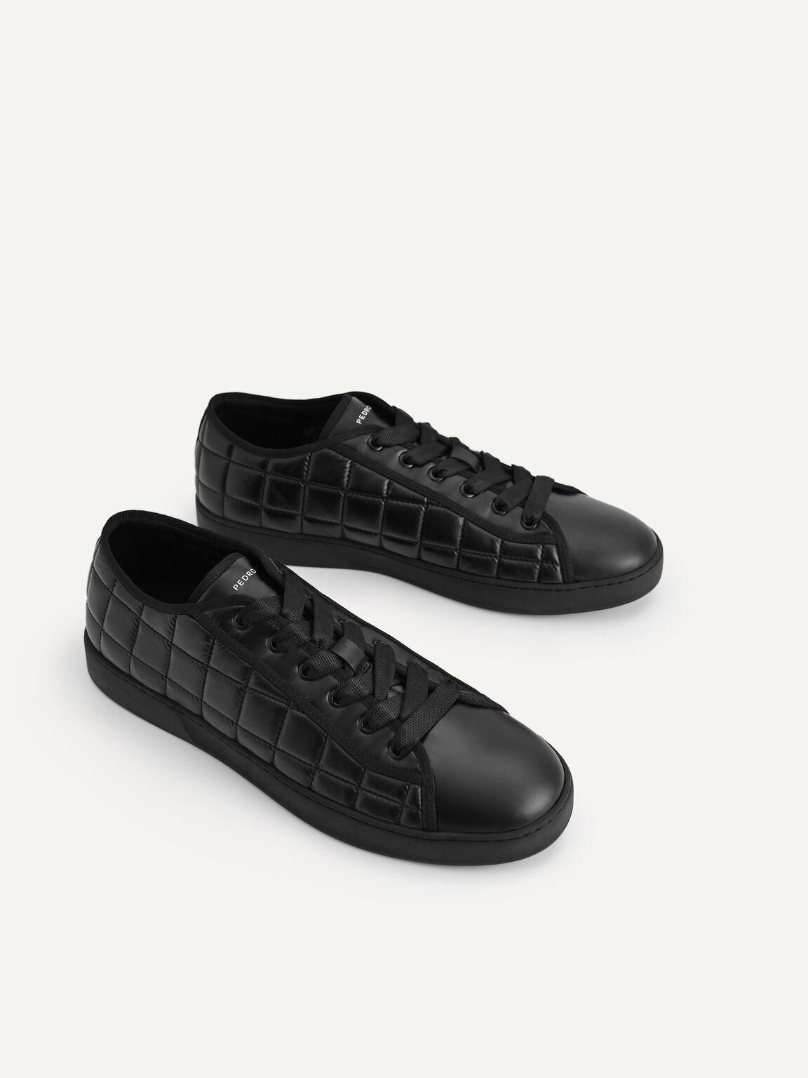 絎縫休閒運動鞋, 黑色, hi-res