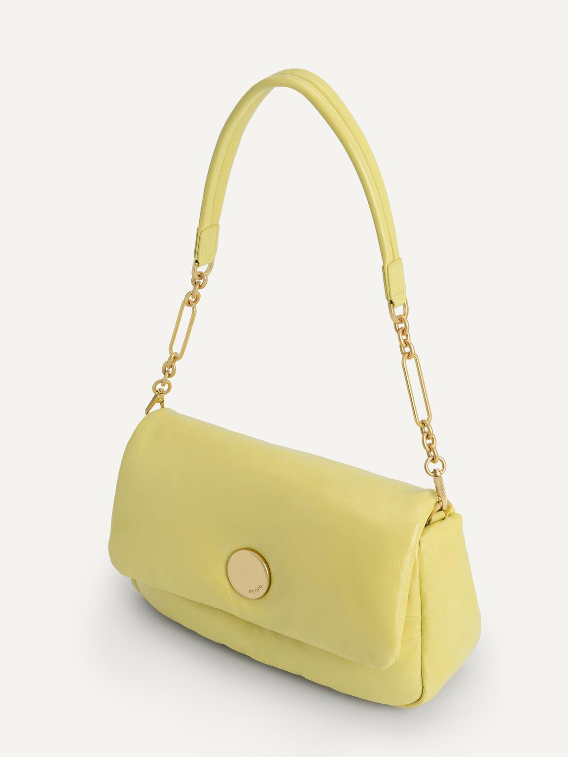 Padded Shoulder Bag, Yellow, hi-res