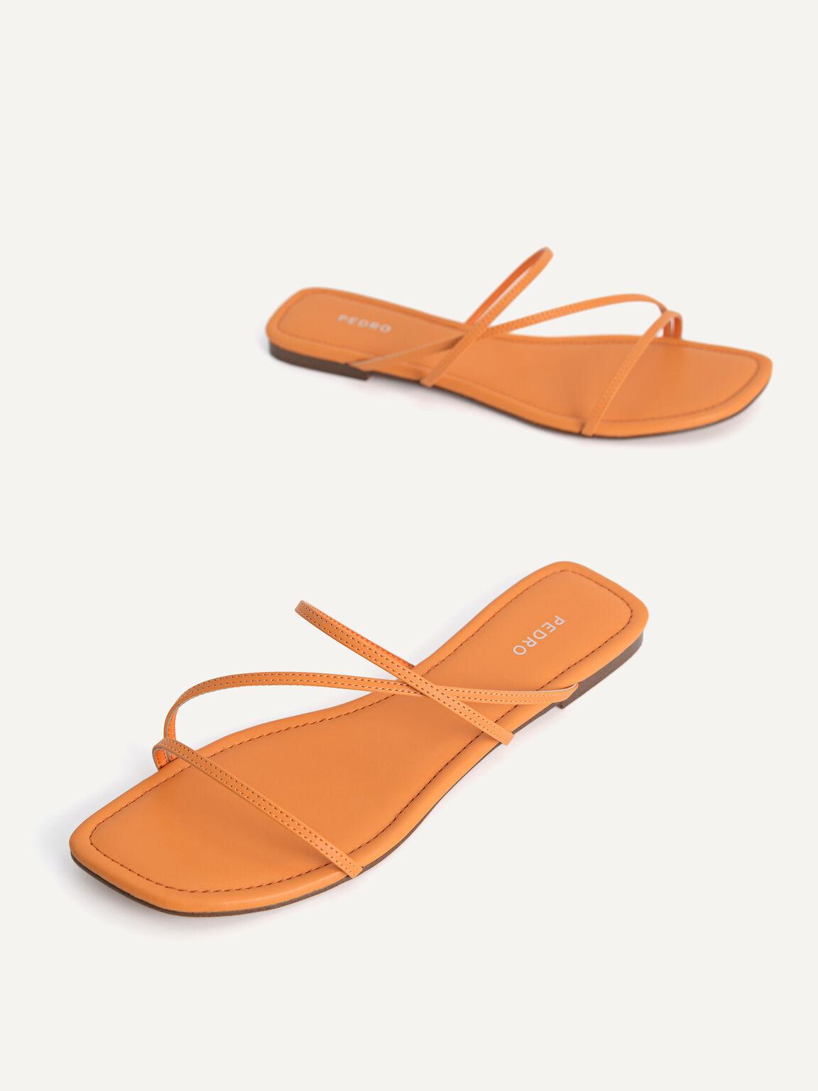 Strappy Flats, Orange, hi-res