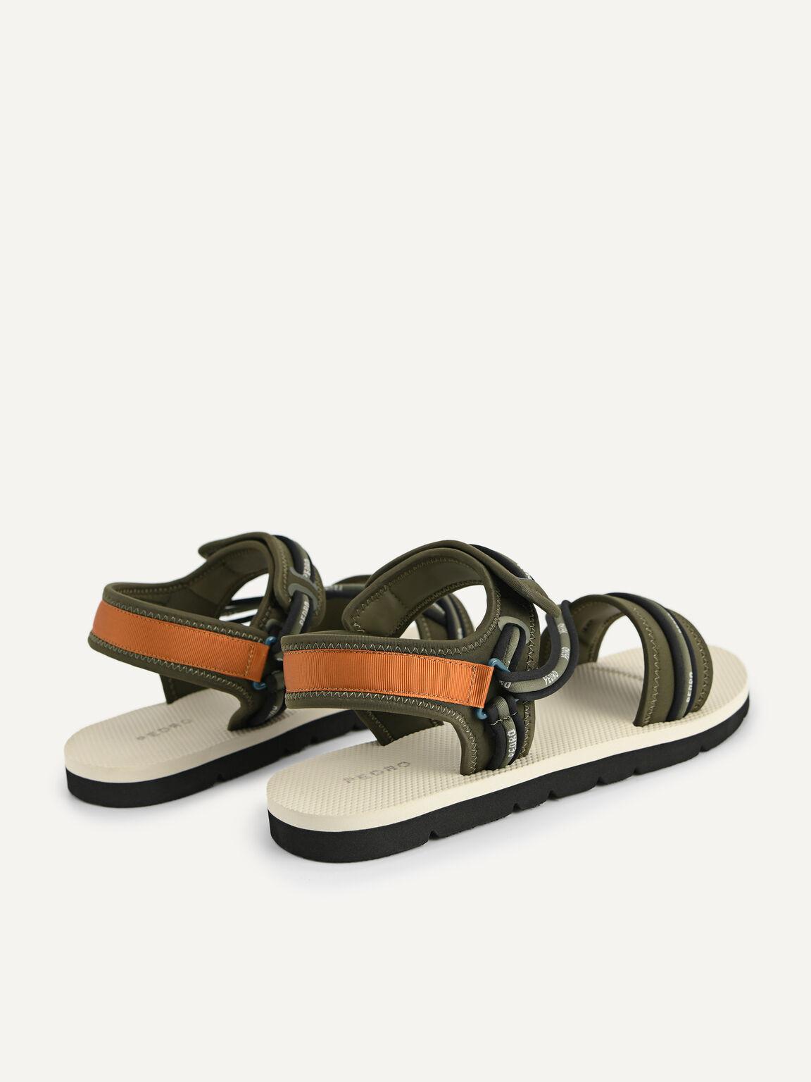 Slingback Sandals, Military Green, hi-res