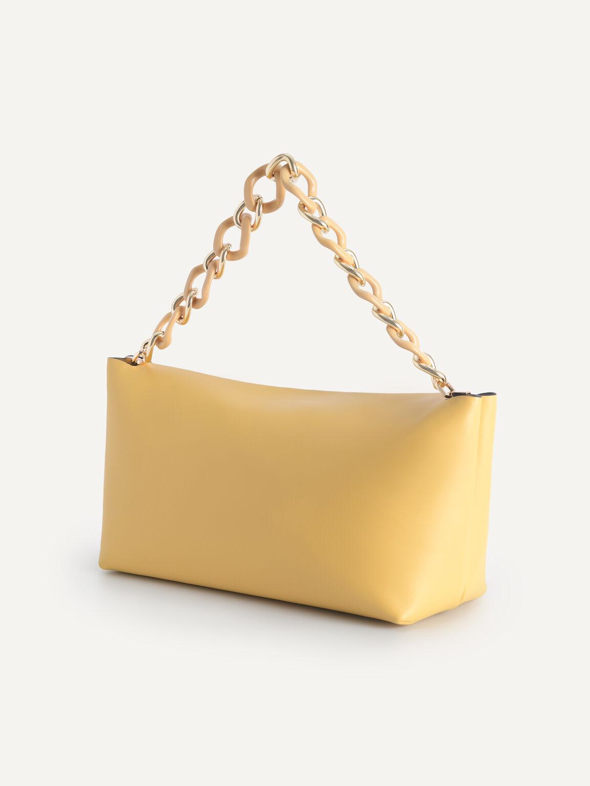 Leather Hobo Top Handle Bag, Sand, hi-res
