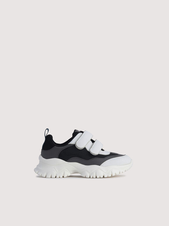 Colourblock Sneakers, Black, hi-res