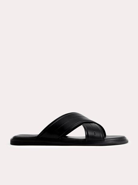 Criss-Cross Sandals, Black, hi-res