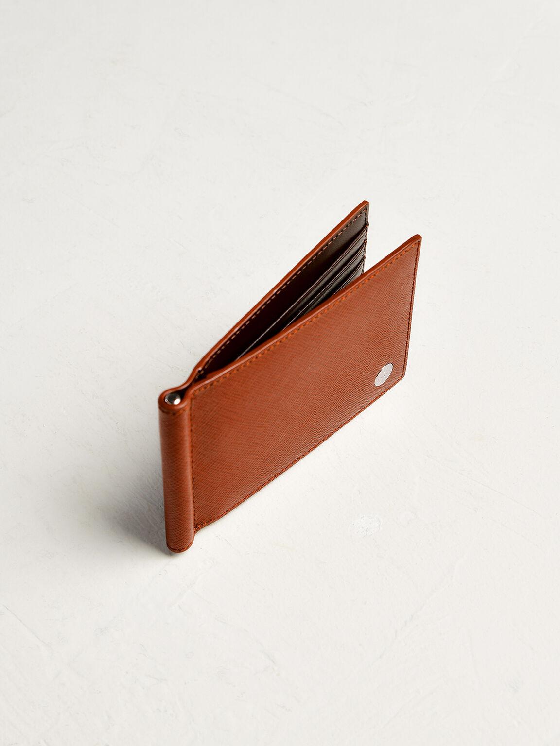 Leather Bi-Fold Money Clip Cardholder, Cognac, hi-res