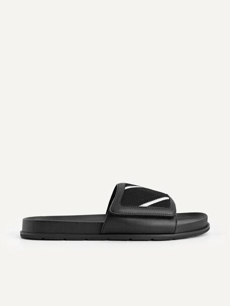 Front Strap Slides, Black, hi-res