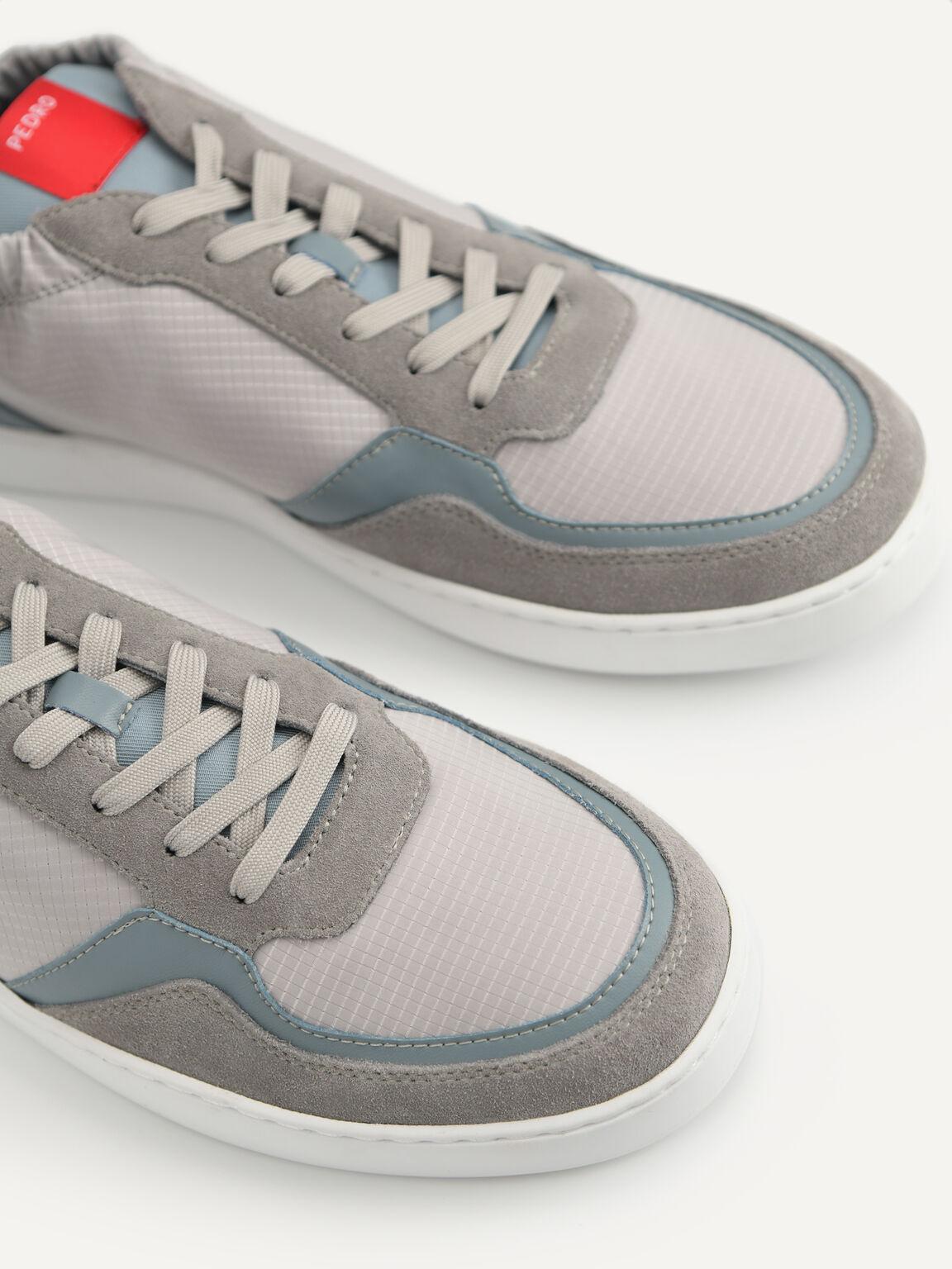 Suede Sneakers, Light Grey, hi-res