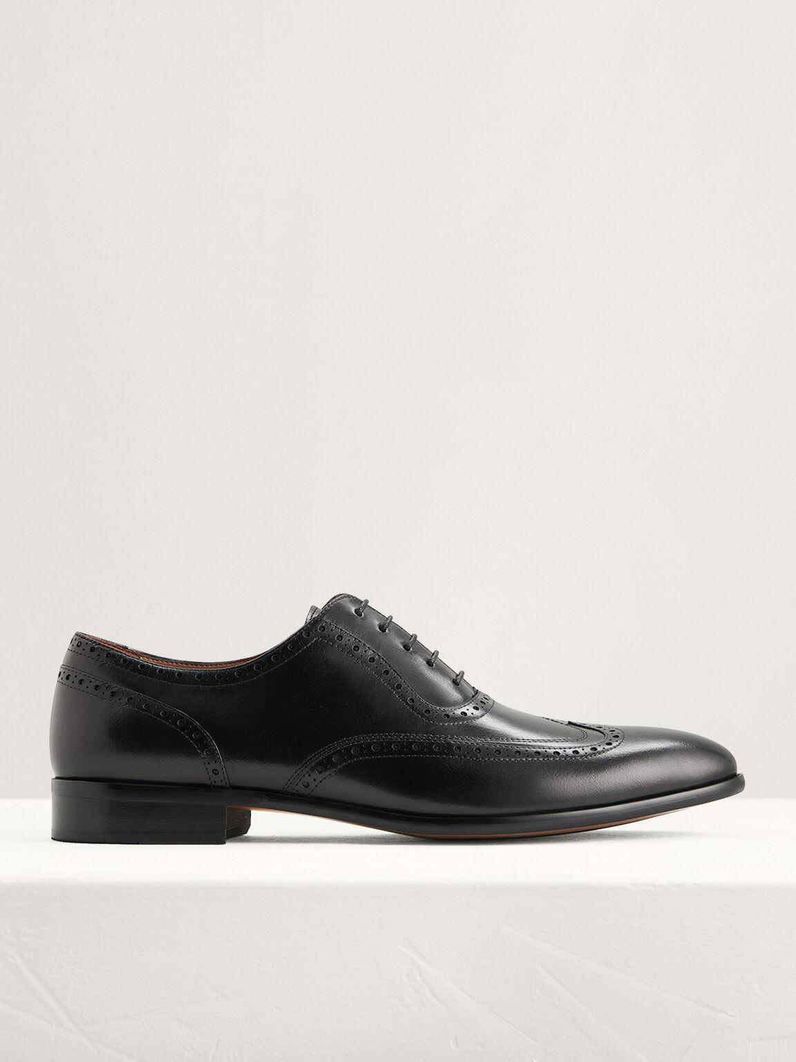 Leather Brogues, Black, hi-res
