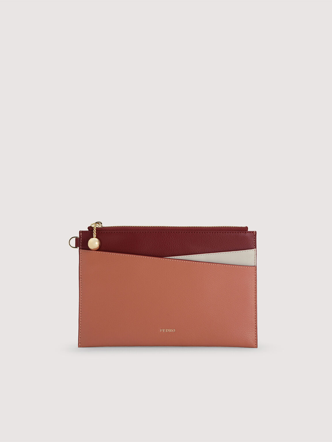 Colourblock Leather Wristlet, Multi, hi-res