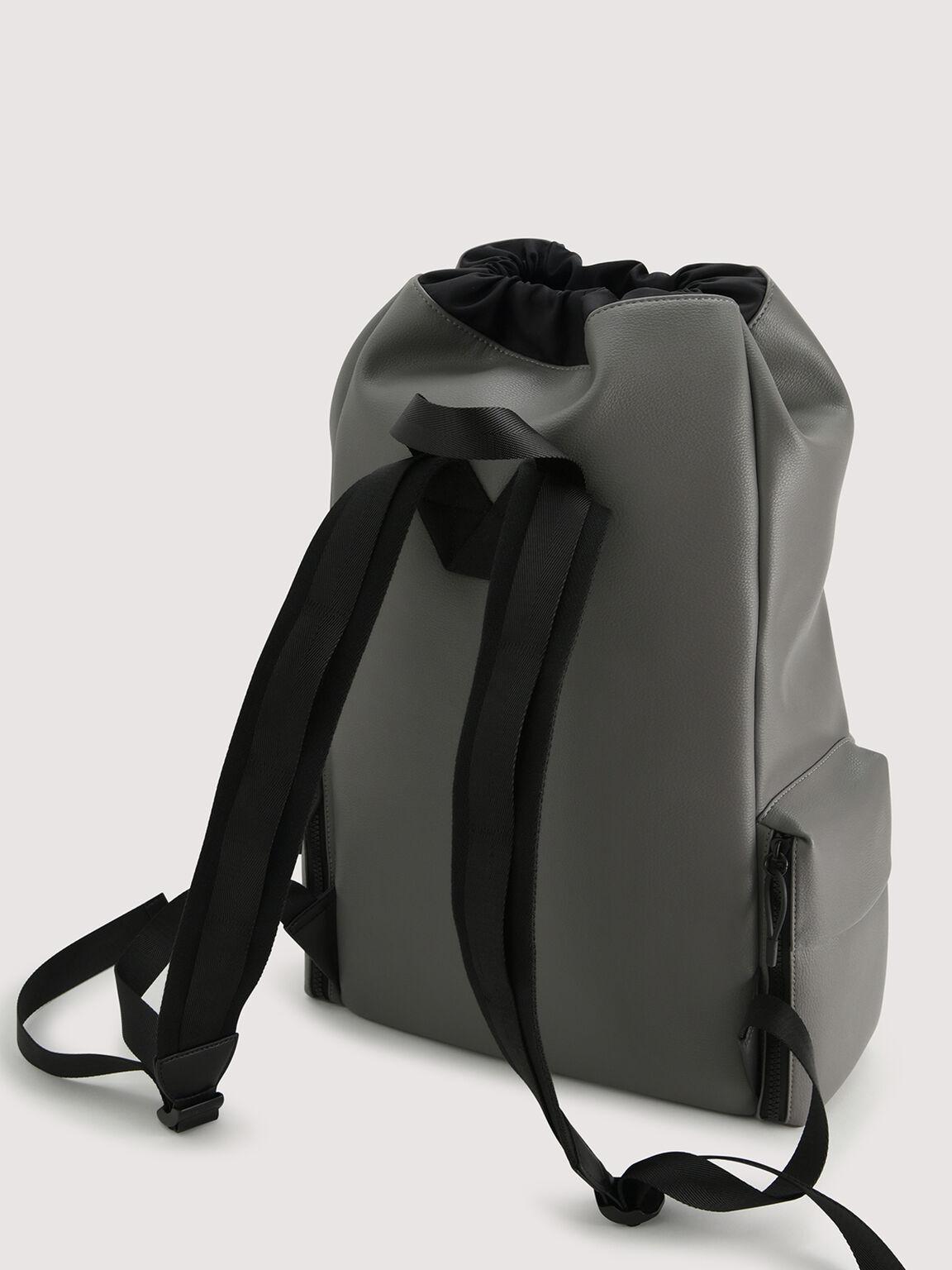 Drawstring Backpack, Grey, hi-res