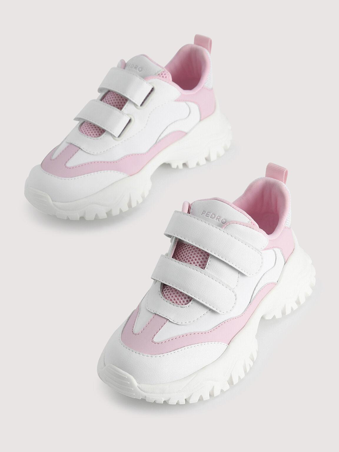 Colourblock Sneakers, Light Pink, hi-res