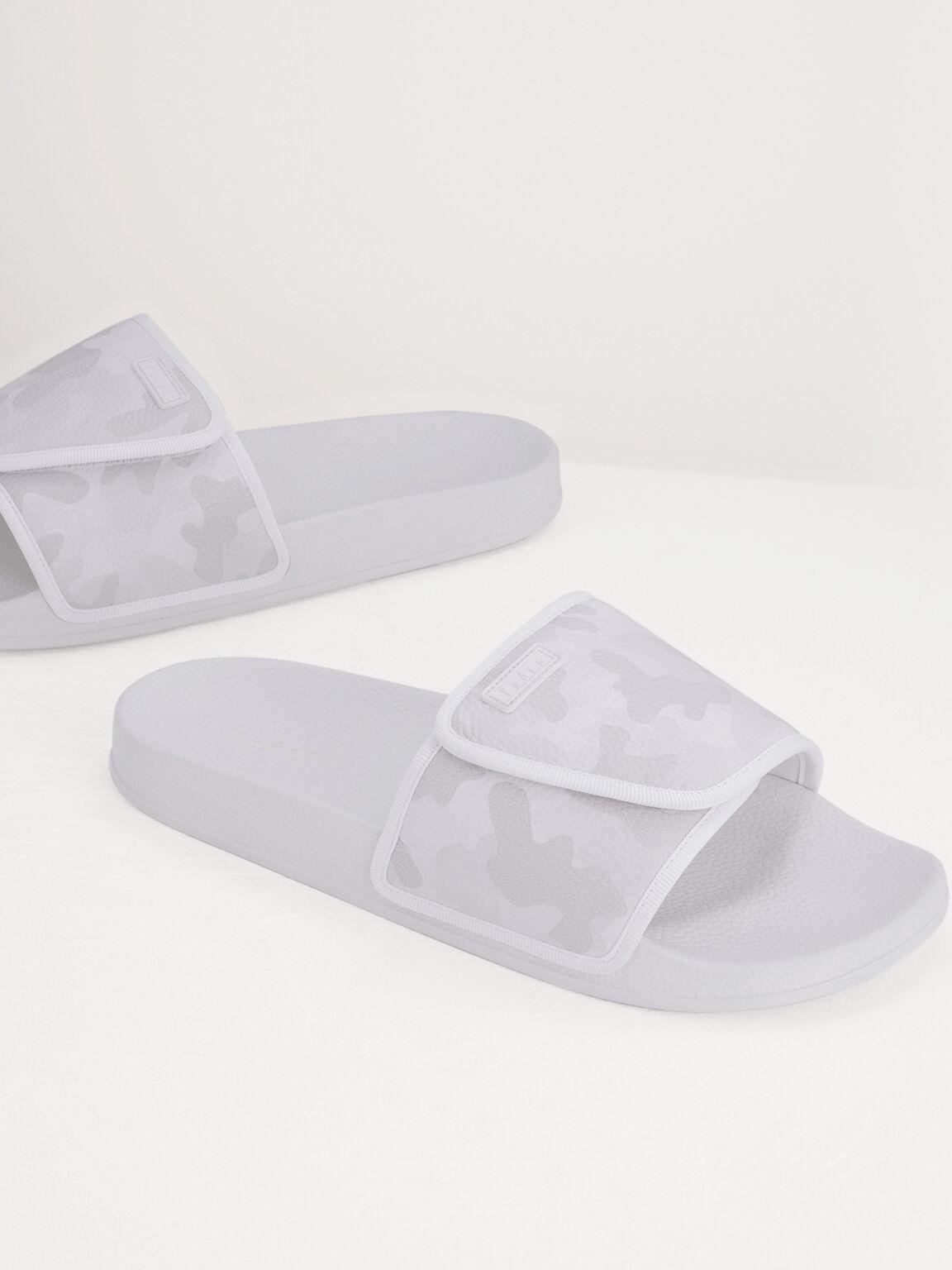 Camo-Effect Sliders, White, hi-res