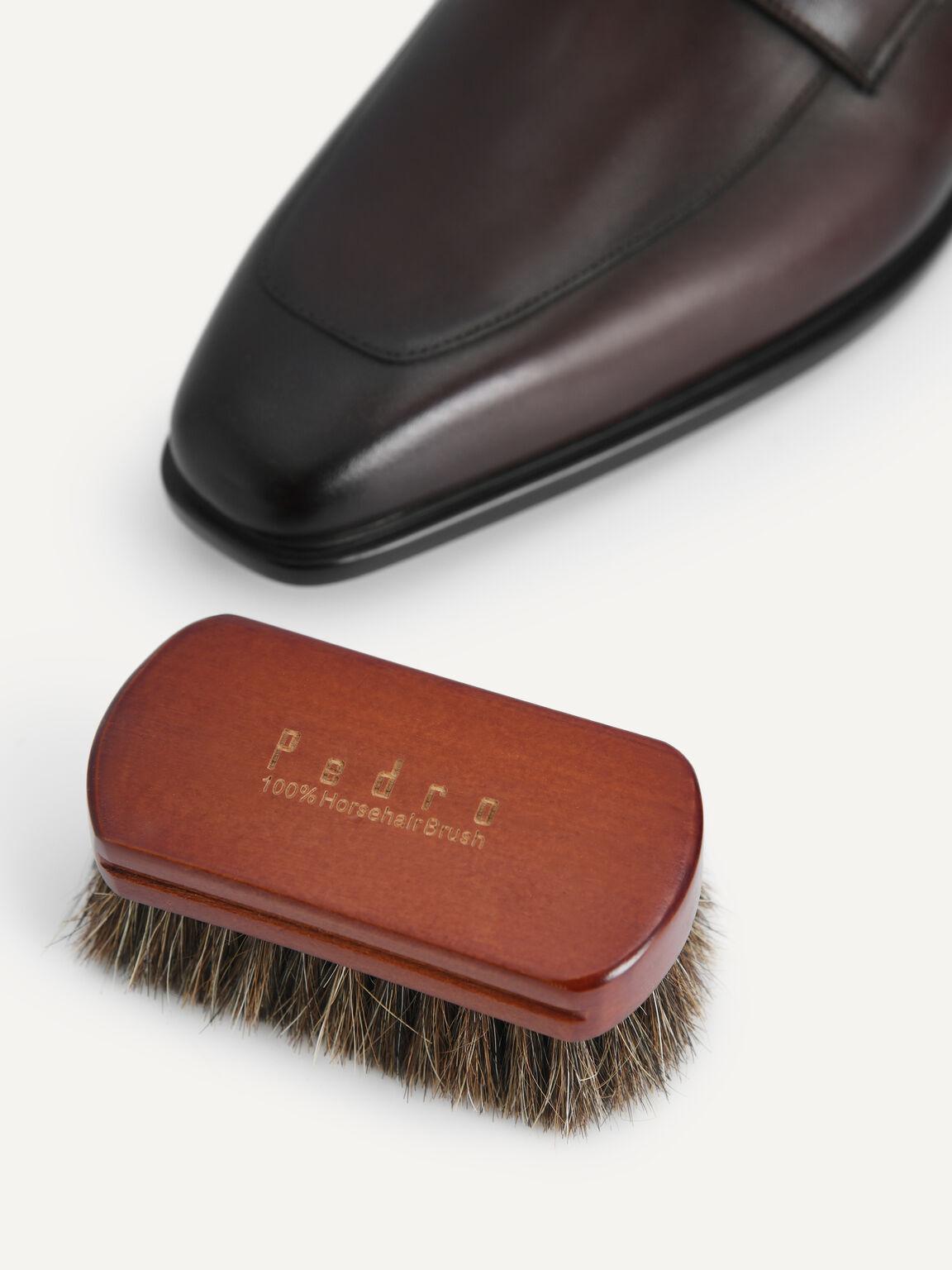Shoe Shine Brush, Brown, hi-res