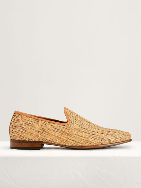 Woven Loafers, Camel, hi-res