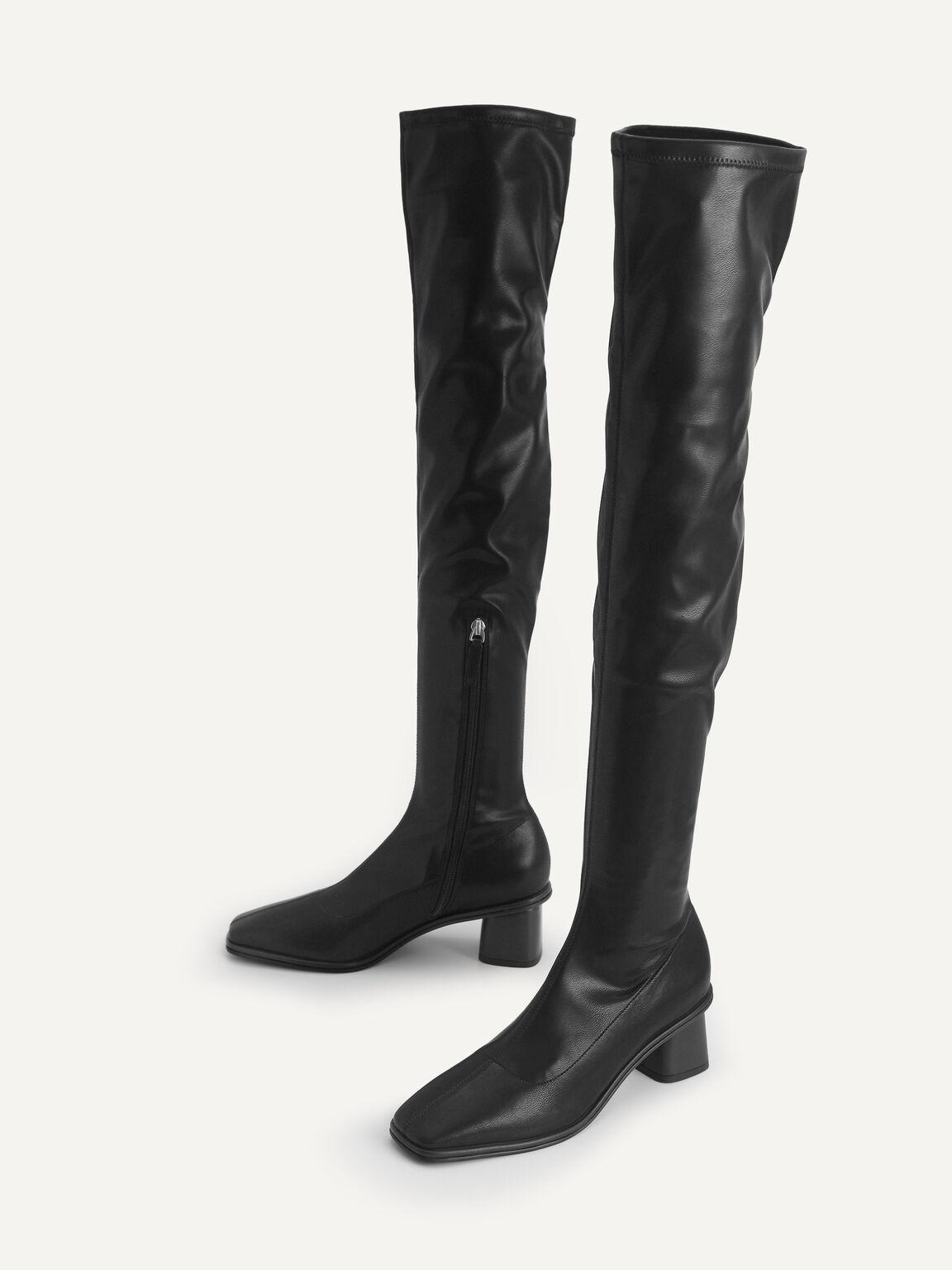 過膝長靴, 黑色, hi-res