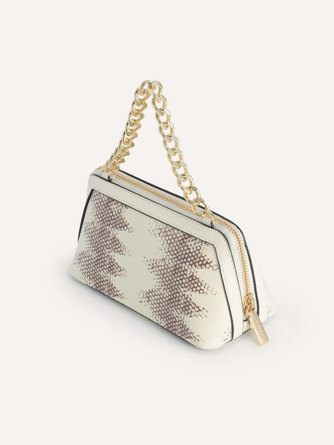 Snake-Effect Leather Pouch, Multi, hi-res