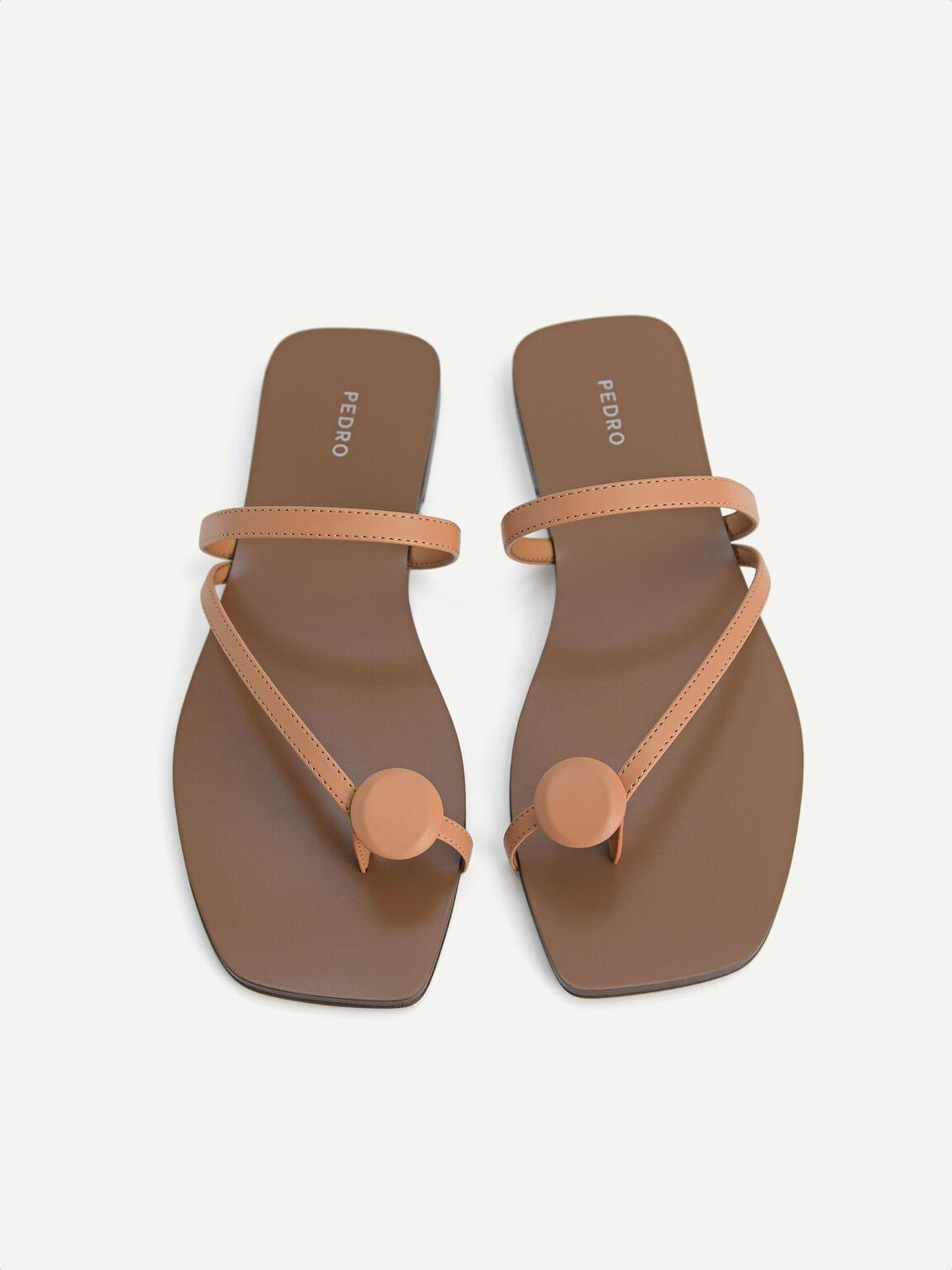 Toe Loop Sandals, Camel, hi-res