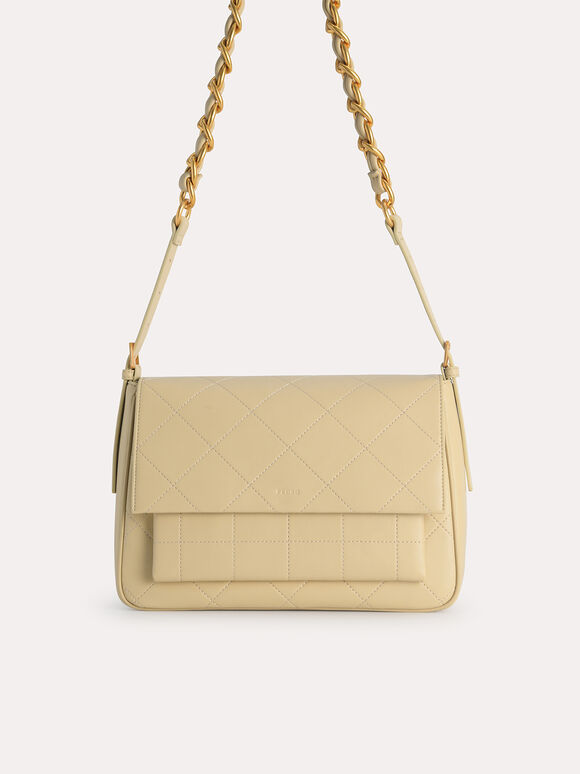 Slouchy Shoulder Bag, Sand, hi-res