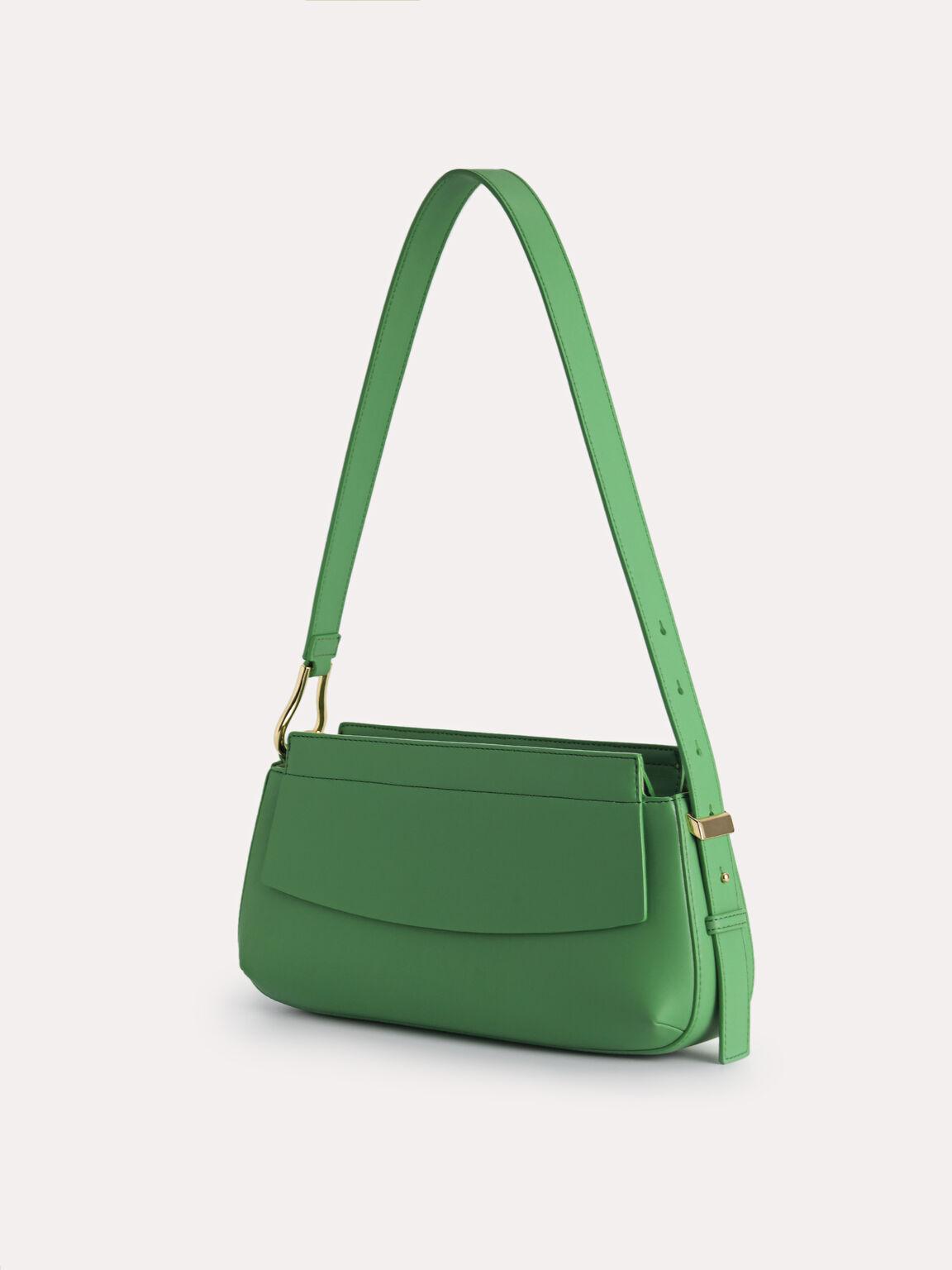 Baguette Shoulder Bag, Green, hi-res