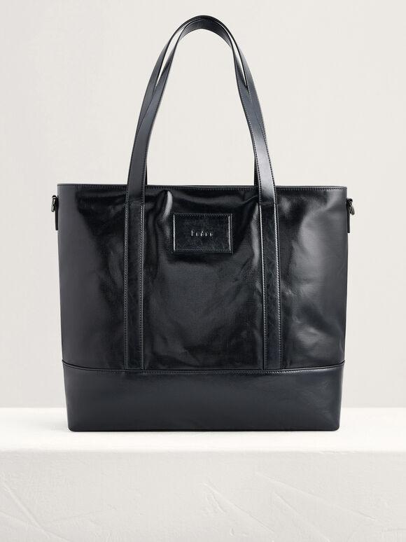 Casual Tote Bag, Black, hi-res