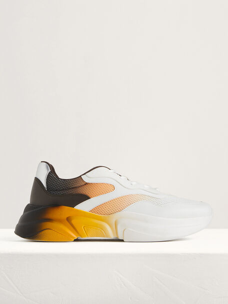 Ombre-Effect Chunky Sneakers, Multi, hi-res